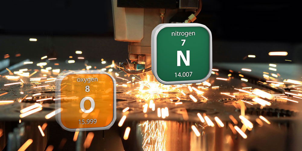 oxygen and nitoren gas comparison for laser cutting